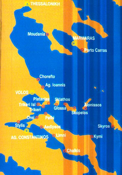 Map of Sporades